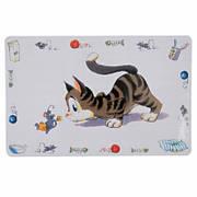 Килимок під котячу миску Trixie Comic Cat 44х28 см