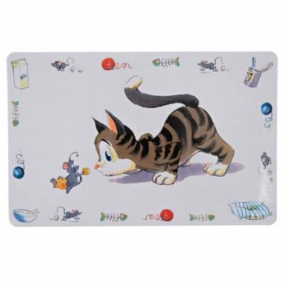 Коврик под кошачью миску Trixie Comic Cat 44х28 см, фото 2