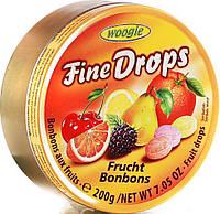 Леденцы (конфеты) Woogie Fine Drops (мелкие капли) микс фруктовый Австрия 200г
