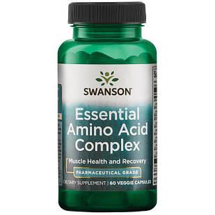 Swanson Ultra AjiPure 9 Essential Aminos Formula, Pharmaceutical Grade по 150 мг каждой аминокислоты 60 капс
