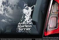 Американский Голый Терьер (American Hairless Terrier) стикер