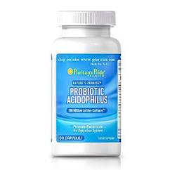 Puritan's Pride Probiotic Acidophilus, Пробіотик Ацидофілус (100 капс.)
