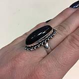 Соколиный глаз питерсит овальное кольцо с соколиным глазом питерситом 16.5-17 размер Индия, фото 6