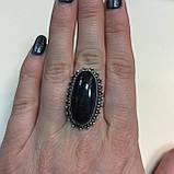 Соколиный глаз питерсит овальное кольцо с соколиным глазом питерситом 16.5-17 размер Индия, фото 2