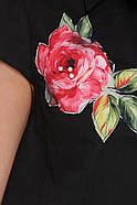 / Размер 50,52,54,56,58 / Женская легкая летняя блузка А-силуэта Розмари / цвет черный, фото 2