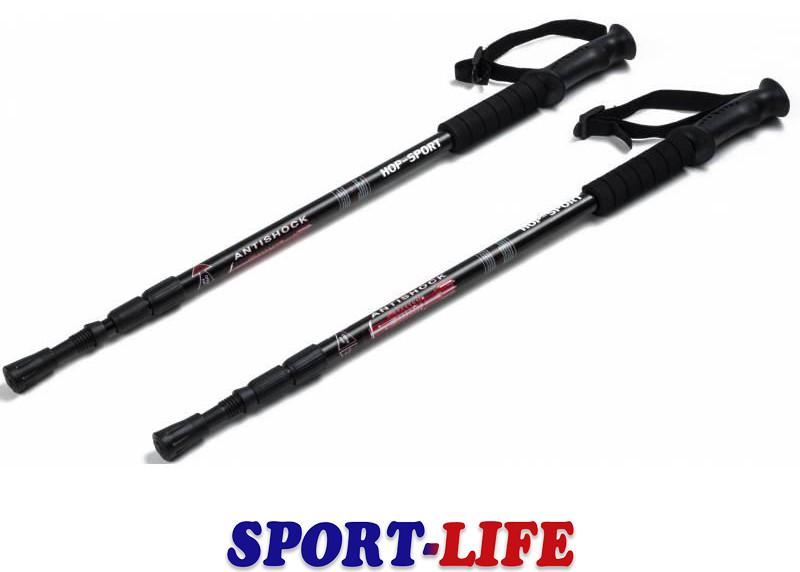Трекинговые палки регулируемые Hop-Sport Everest Black