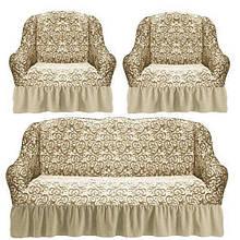 Комплекты полуторные диван и два кресла