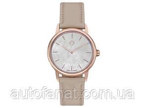 Женские наручные часы Mercedes-Benz Women's Watch, Basic, pink gold colours / beige (B66954184)