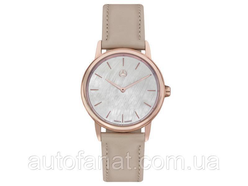Жіночі наручні годинники Mercedes-Benz women's Watch, Basic, pink gold colours / beige (B66954184)