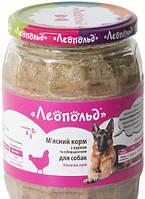 Влажный корм для собак Леопольд Мясной с курицей и субпродуктами 720 г