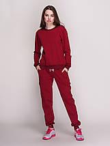Костюм жіночий, світшот і штани, колір - вишня, фото 3