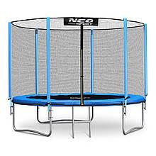 Садовий батут Neo-Sport 6ft/183 см для всієї родини з посиленою рамою зовнішньої сіткою і сходами