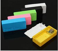 Корпус для Power Bank Портативное зарядное 2 x 18650 5V 2A USB , Синий microusb 2A Battery Case