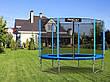 Садовый батут Neo-Sport 6ft/183 см для всей семьи с усиленной рамой внешней сеткой и лестницей, фото 2