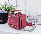 Женский клатч 'Love Dream' в красном цвете с декором из камней, из искусственной кожи, фото 2
