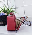 Женский клатч 'Love Dream' в красном цвете с декором из камней, из искусственной кожи, фото 4