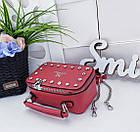 Женский клатч 'Love Dream' в красном цвете с декором из камней, из искусственной кожи, фото 8