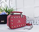 Женский клатч 'Love Dream' в красном цвете с декором из камней, из искусственной кожи, фото 6