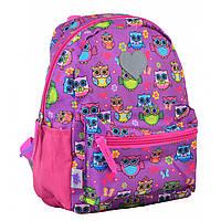 Рюкзак детский для девочек YES K-19/555307 Owl розовый