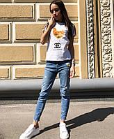 Женская летняя стильная футболка с рисунком Коко, фото 1