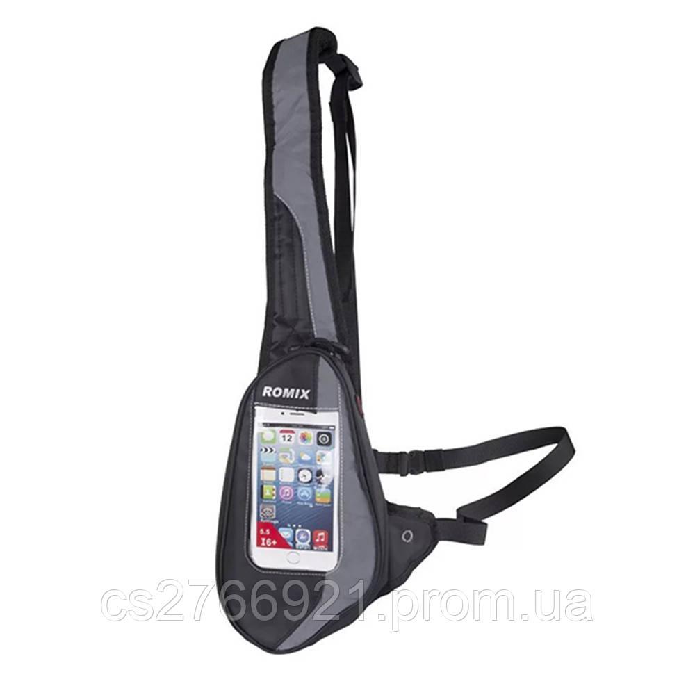 Спортивная сумка-пояс  ROMIX RH02B черный
