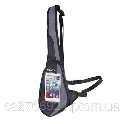 Спортивная сумка-пояс  ROMIX RH02B черный, фото 2