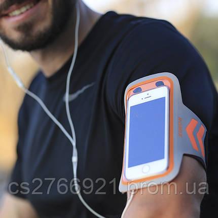 Ультратонкий отражающий наручный чехол с сенсорным экраном  ROMIX RH17-4.7OR оранжевый, фото 2