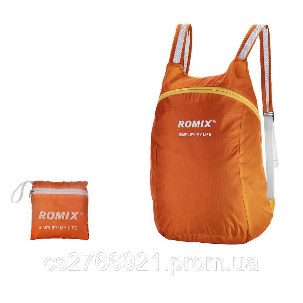 Складной портативный рюкзак ROMIX RH30OR оранжевый