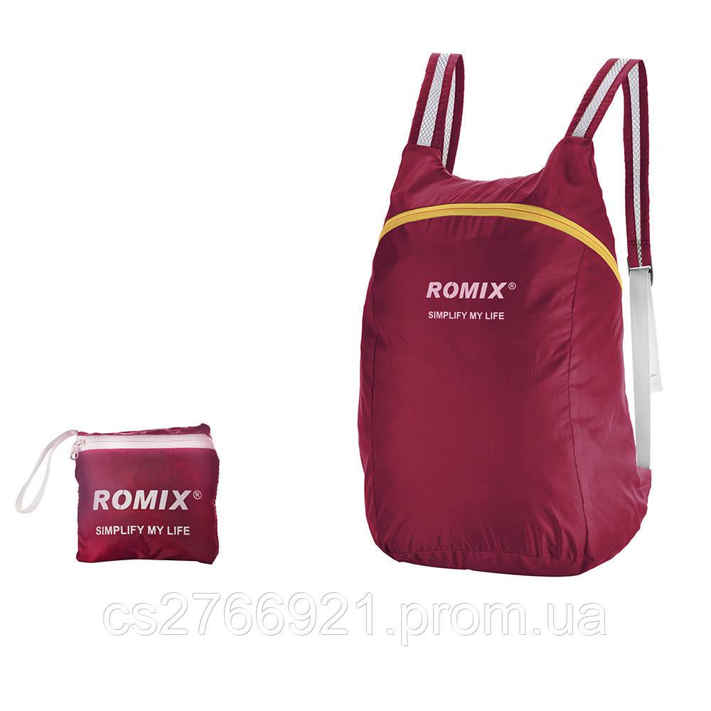 Складной портативный рюкзак ROMIX RH30R красный