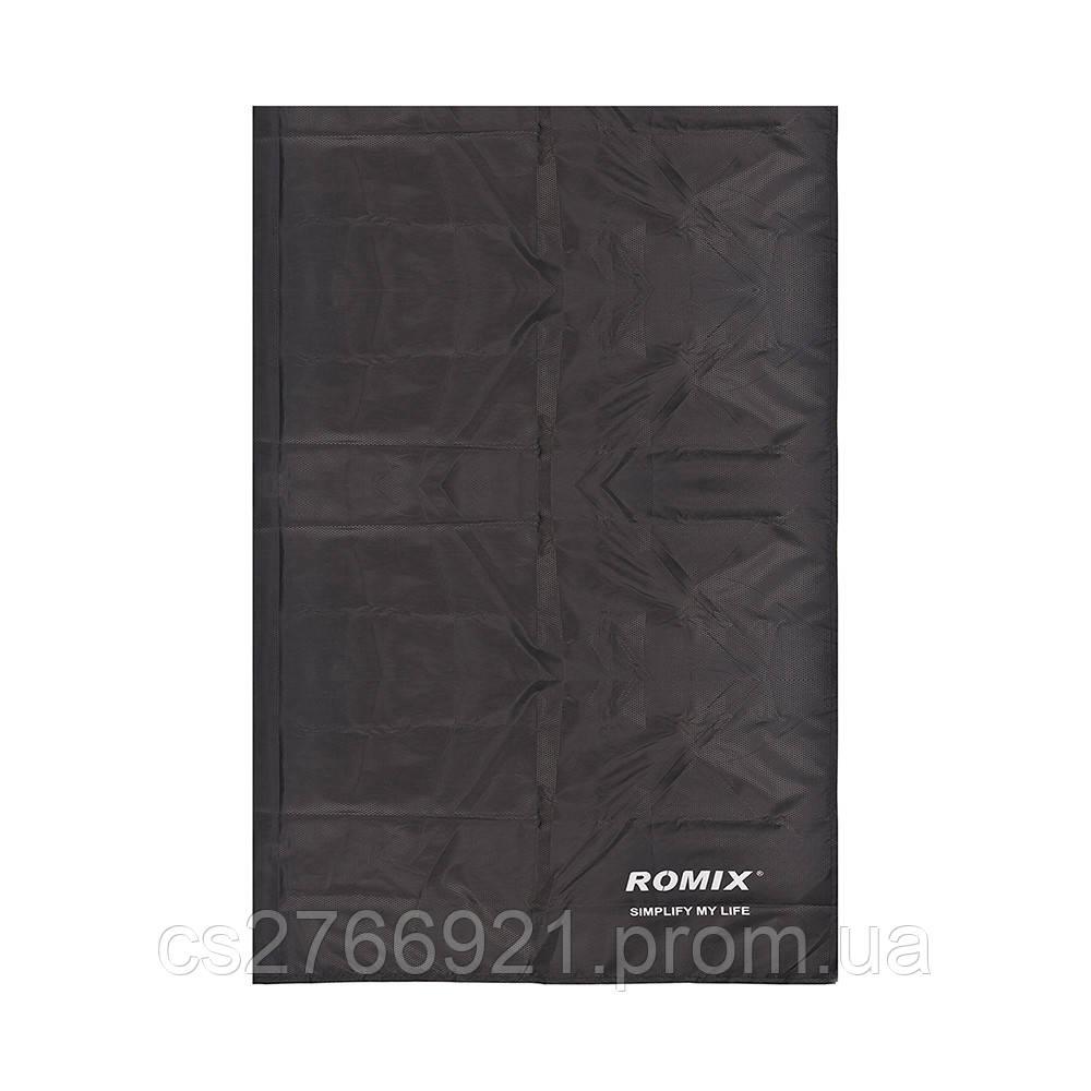 Складное портативное влагостойкое покрывало 140*170 ROMIX RH33-L-B черный