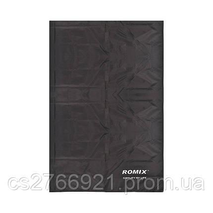 Складное портативное влагостойкое покрывало 140*170 ROMIX RH33-L-B черный, фото 2