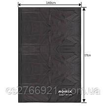 Складное портативное влагостойкое покрывало 140*170 ROMIX RH33-L-B черный, фото 3