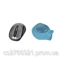 Дорожная надувная подушка для шеи со встроенной помпой   ROMIX RH34WBL голубой, фото 2