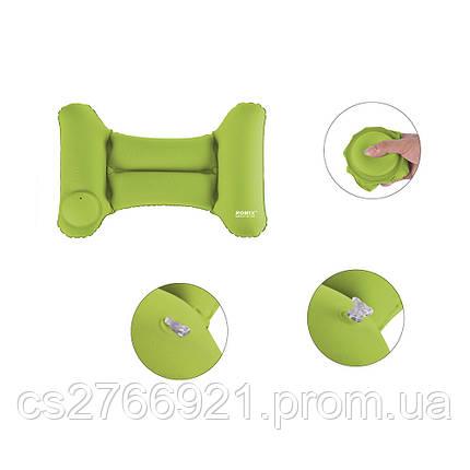 Надувная подушка для путешествий ROMIX RH35GN зеленый, фото 2