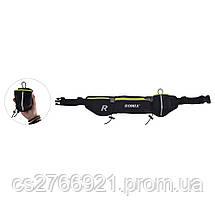 Спортивный пояс-сумка с карманами  ROMIX RH42B черный, фото 3