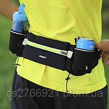 Спортивный пояс-сумка с карманами  ROMIX RH42B черный, фото 2