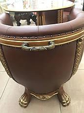 """Комплект элитной мягкой мебели, два кресла и стол """"Тет-а-Тет"""" в коже, в кабинет (В НАЛИЧИИ), фото 2"""