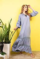 Стильное Летнее Платье из хлопка код 417-джинс