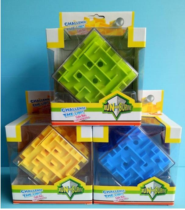 Лабіринт куб Shantou First Classroom, 3 кольори, в коробці, 14-19-10,5 см