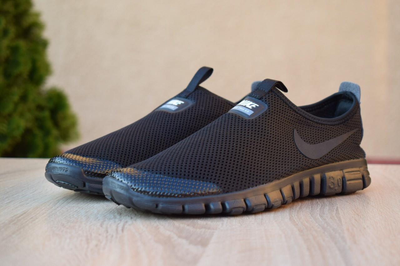 d6a3dd92 Мужские кроссовки в стиле Nike Free Run 3.0, сетка, пена, черные - Shoes