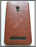 Коричневый кожаный чехол Mofi для смартфона Asus ZenFone 5, фото 4