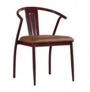 Стул Энди, металл, кожзам, цвет коричневый, фото 2