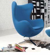 Кресло Эгг (Egg), мягкое, цвет синий