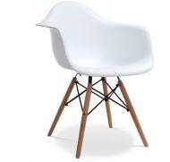 Кресло Тауэр Вуд, дерево бук, сиденье пластик, цвет белый