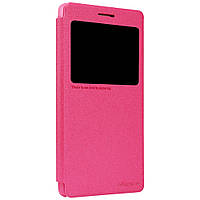 Чехол книжка Nillkin Sparkle Smart для Lenovo A7000 K3 Note K50T малиновый
