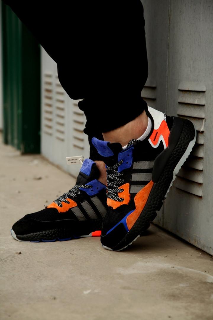 Кроссовки мужские Adidas Nite Jogger OG Black Orange . ТОП качество!!! Реплика
