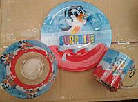 Детский набор посуды из стекла Surprise 3 предмета