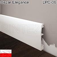 Плинтус дюрополимерный Cezar Elegance LPC-06, H=70 мм.
