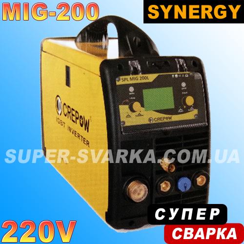 Сварочный полуавтомат CrepoW MIG-200 SYN