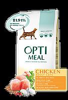Сухой корм OPTIMEAL для взрослых кошек, с курицей 10кг